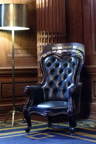The Prince of Wales chair has been part of Manitoba history for more than a century.