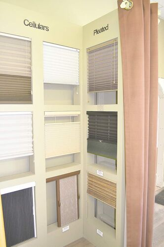 Cellular and pleated blinds that can be manipulated to shut out light or diffuse it, creating a soft glow.