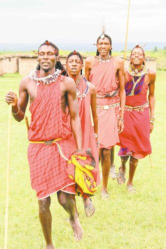 Massai men.