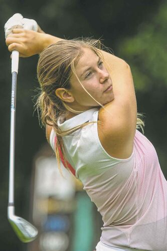 Veronica Vetesnik (pictured) and Selkirk's Travis Fredborg were the sweetest swingers at Rossmere this week.