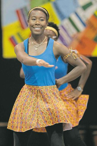 Dancers perform Monday at Folklorama's African pavilion, where anti-fundraising rules prevented  groups from collecting donations toward Ebola-aid efforts.