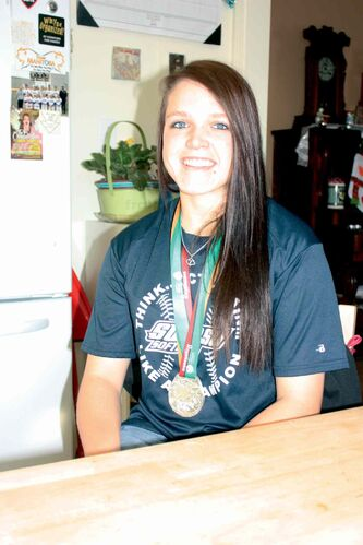 Local softball player Makensy Payne is shown with her Canada Summer Games silver medal.
