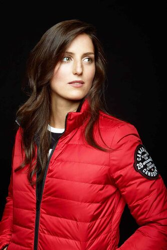 World champion ski-cross competitor Kelsey Serwa in Canadian uniform.