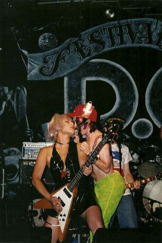 <p>SUPPLIED</p><p>Wilson (right) and Ligaya Fatima perform in the Vancouver punk band JP5.</p></p>