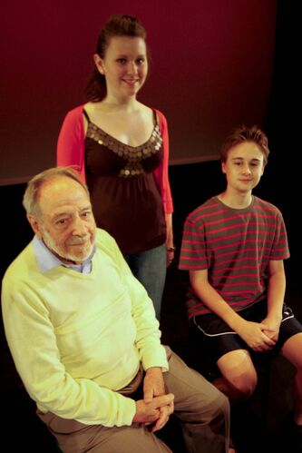 <p>SARAH KEARNEY/WINNIPEG FREE PRESS</p><p>Ron Blicq, left, with actors Kevin Carruthers and Megan Wilson during the Fringe Festival RGI International performed You Will Write, Won't You? at the Gas Station Theatre in 2011. </p>