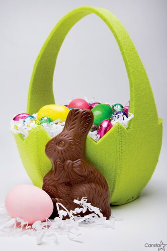Use leftover Easter bunnies when making homemade chocolate sauce.