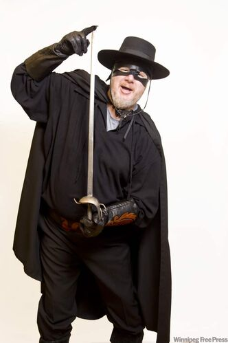 Doug as Zorro, not Antonio Banderas.