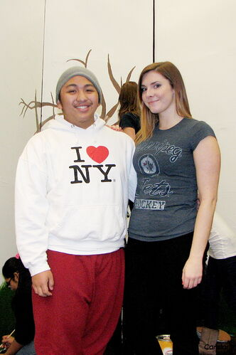 Maples Collegiate student Patrick Eulalia, left, and drama teacher Jenny Gillespie are looking forward to the school's production of Toad of Toad Hall, which will be staged for one night only on Thurs., Dec. 13.