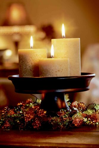 Wax-coated pine cones make great fire starters and table decorations for the holidays, so make use of leftover candle wax and try making a few.
