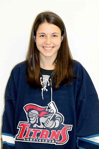 Stephanie Grossi of the Shaftesbury Titans is headed to Syracuse, N.Y., next season on a hockey scholarship.