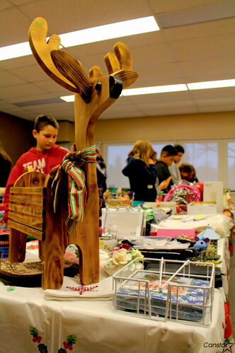 Students shop at George Waters Middle School's Santa Shop last week.