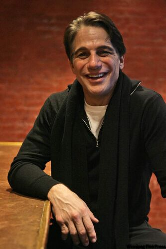 Tony Danza posing at a restaurant in New York in a 2007 photo. The former