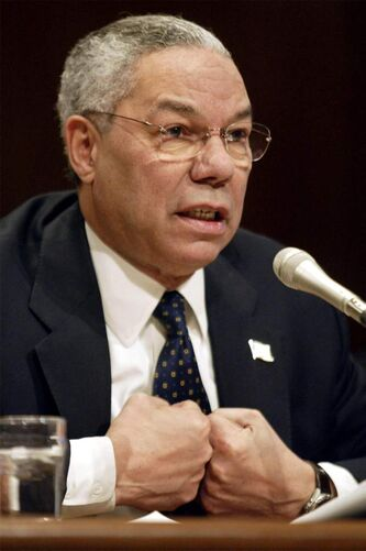 Former secretary of state Colin Powell