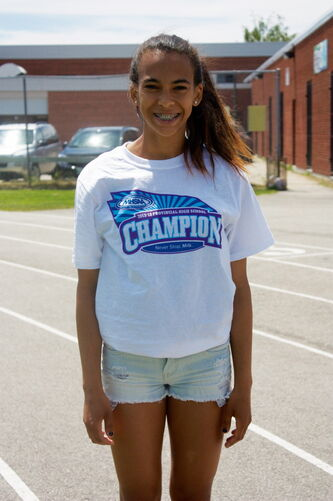 Elmwood High School Grade 10 student Sciera Opaleke won two gold medals at the Manitoba High Schools Athletic Association's Track and Field Provincial Championships earlier this month.