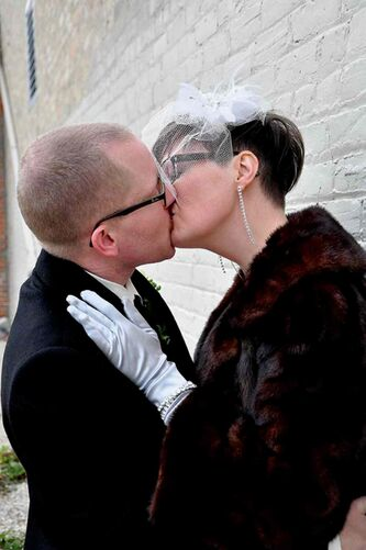 Susan Bjerring and Nigel Moore incorporated Spence Neighbourhood Association into their wedding day by having their guests donate money to the organization every time they wanted to see the couple kiss. They raised $500.
