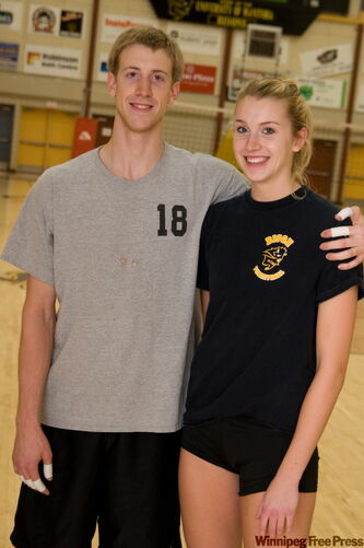 Chris and Ashley Voth will be a brother-sister combo on Bisons volleyball teams this season.
