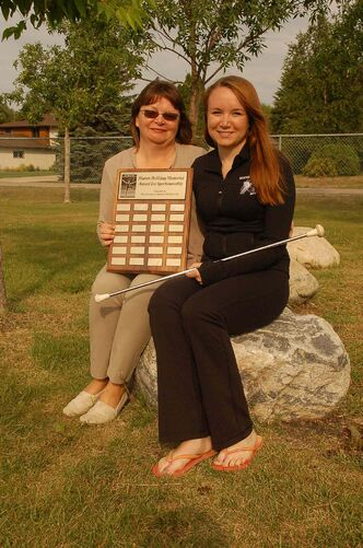 Aerial Fusion members Jennifer and Edie Parisian were honoured with the Sharon Holliday Memorial Award for Sportsmanship this summer.