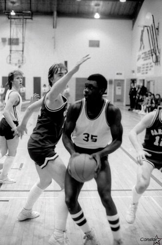 Joe Ogoms won two provincial basketball championships with the Daniel McIntyre Maroons and made it to two more finals.