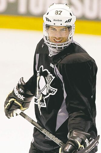 Sidney Crosby practised Tuesday and could be cleared to play tonight.