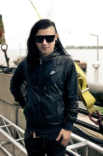 In this 2010 photo released by Big Beat/Atlantic, musician Skrillex, born Sonny Moore, is shown in Detroit. Skrillex received five Grammy nominations, Wednesday, Nov. 30, 2011, including best new artist. The awards will be held on Feb. 12. (AP Photo/Big Beat/Atlantic, Bruno Postigo)