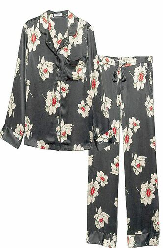 Avery black floral silk panama set by Equipment, $448 (equipmentfr.com).