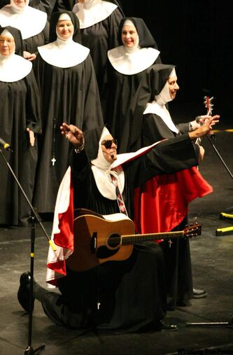 The Sisters of the Holy Rock perform at the Western Manitoba Centennial Auditorium in Brandon in order to raise funds for the Central United Church. The Sisters of the Holy Rock are an interdenominational group of amateur musicians.
