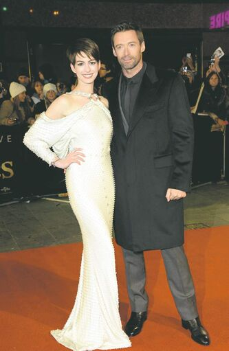 Anne Hathaway and Hugh Jackman