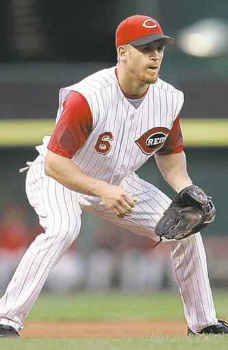 Ryan Freel during his playing days with the Cincinnati Reds. He was found dead on Saturday.