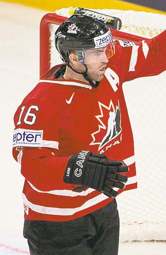Andrew Ladd played in the 2013 world championship in Sweden.