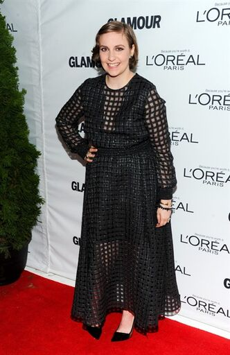 Actress Lena Dunham attends the 23rd Annual Glamour Women of the Year Awards hosted by Glamour Magazine at Carnegie Hall on Monday, Nov. 11, 2013, in New York. (Photo by Evan Agostini/Invision/AP)