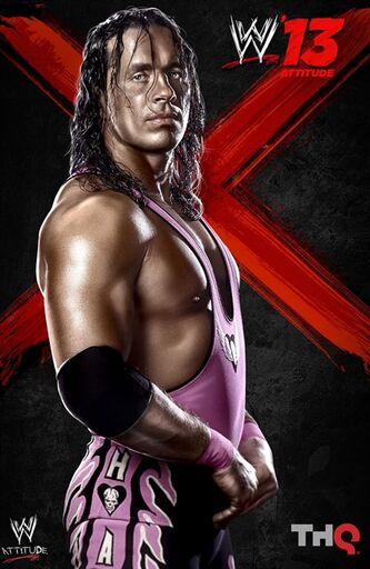 The cover of the video game WWE 13, featureing Bret the Hitman Hart, is shown. THE CANADIAN PRESS/HO, THQ