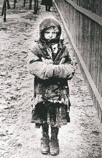 A young girl in the midst of famine. Only 36 photos of the Holodomor are known to exist.