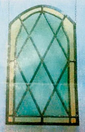 Anyone who has renovated an old building knows there are always surprises inside the walls. At St. Matthew's, they found 10 of these century-old stained-glass window panels behind the plaster. They have been restored and come with a $250 tax receipt.