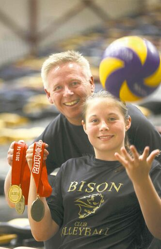 Ken Bentley and his daughter Katreena Bentley recently brought home gold from the U14 national volleyball championship.