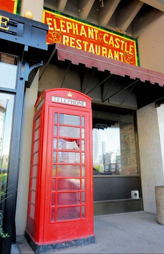 There are few phone booths like this one on St. Mary Avenue left in the city.