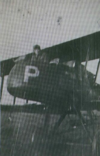 Picture of the actual plane Baird flew in during the First World War with his observer in front seat.