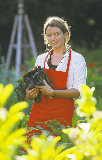 Anna Sigrithur is not only a creative chef, she also gathers her own vegetables and greens and is an avid community gardener.