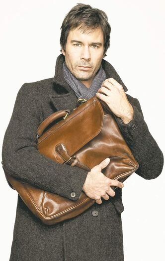 "Eric McCormack plays a schizophrenic neuroscientist in TNT's new drama, ""Perception"" premiering next Monday."