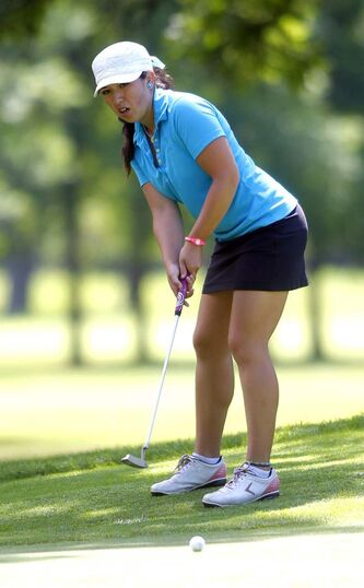 Jenna Roadley in the final round of the Manitoba Junior Golf Championships.