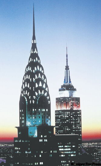 The Chrysler Building (left) was the tallest building in the world when it was built in 1930, but was surpassed by the Empire State (right) within a year.