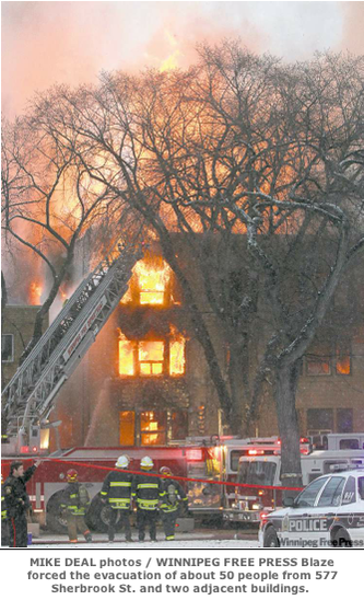 Mike Deal photo of Jan. 14 arson on Sherbrook St.