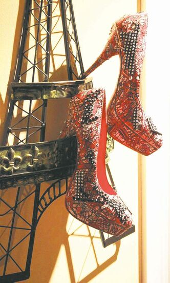Lisa Wiebe's hand-painted, one-of-a-kind shoes has won her a spot at the Aspen AIDS Benefit fashion show this spring.