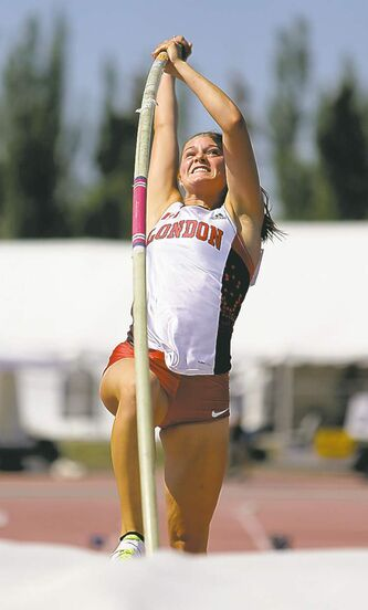 Alysha Newman of London, Ont., won the women�s pole vault.