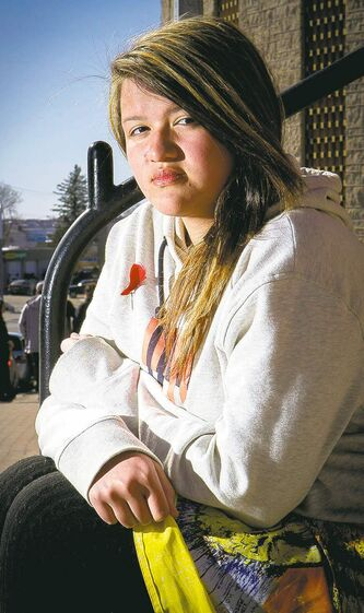 Alyssa Nepinak has been taught to rise above the racist taunts she says she's encountered on the road.