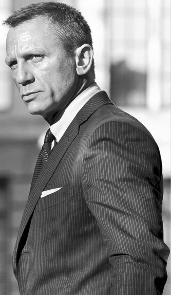 Daniel Craig as Bond.