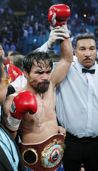 Manny Pacquiao, took a controversial victory over Mexico's Juan Manuel Marquez on Nov. 12, 2011, in Las Vegas.