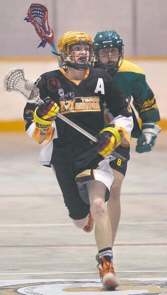 Team Manitoba defeated Team Saskatchewan 6-4 in the Gold Medal B game at the 2013 Bantam Box Lacrosse National Championships at the Billy Mosienko Arena. Kyle Jahns story Aug. 7  2013