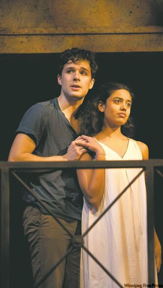 Marc Bendavid and Pam Patel as Romeo and Juliet.
