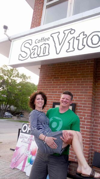 Jill and Geordie Wilson own San Vito Coffee House.
