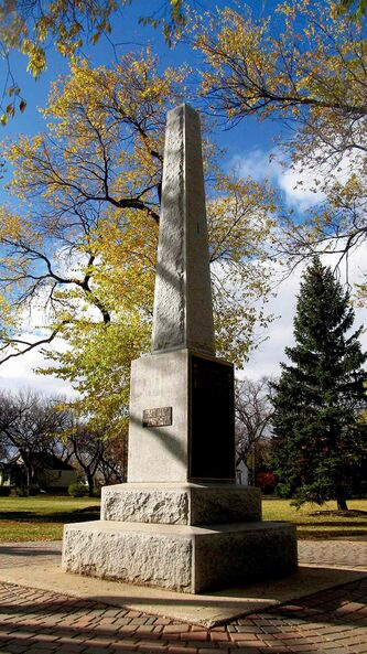 Transcona's Cenotaph stands in Memorial Park Circle.
